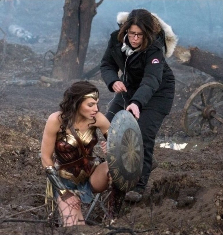 Wonder Woman on the Set Behind the Scenes