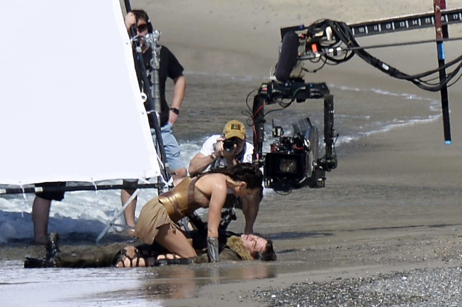 Gal Gadot in Wonder Woman Behind the Scenes