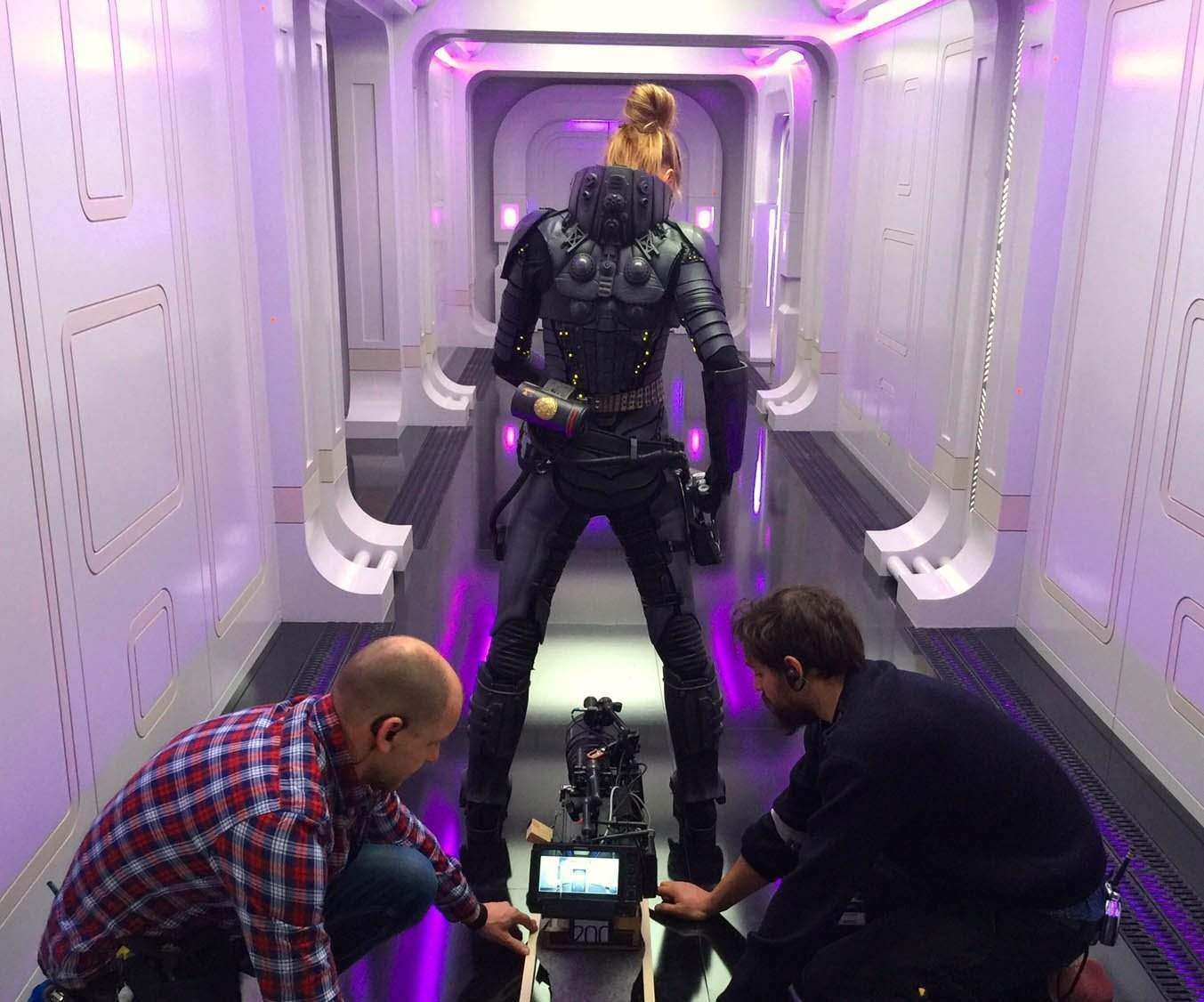 Cara Delevingne as Laureline Behind the Scenes