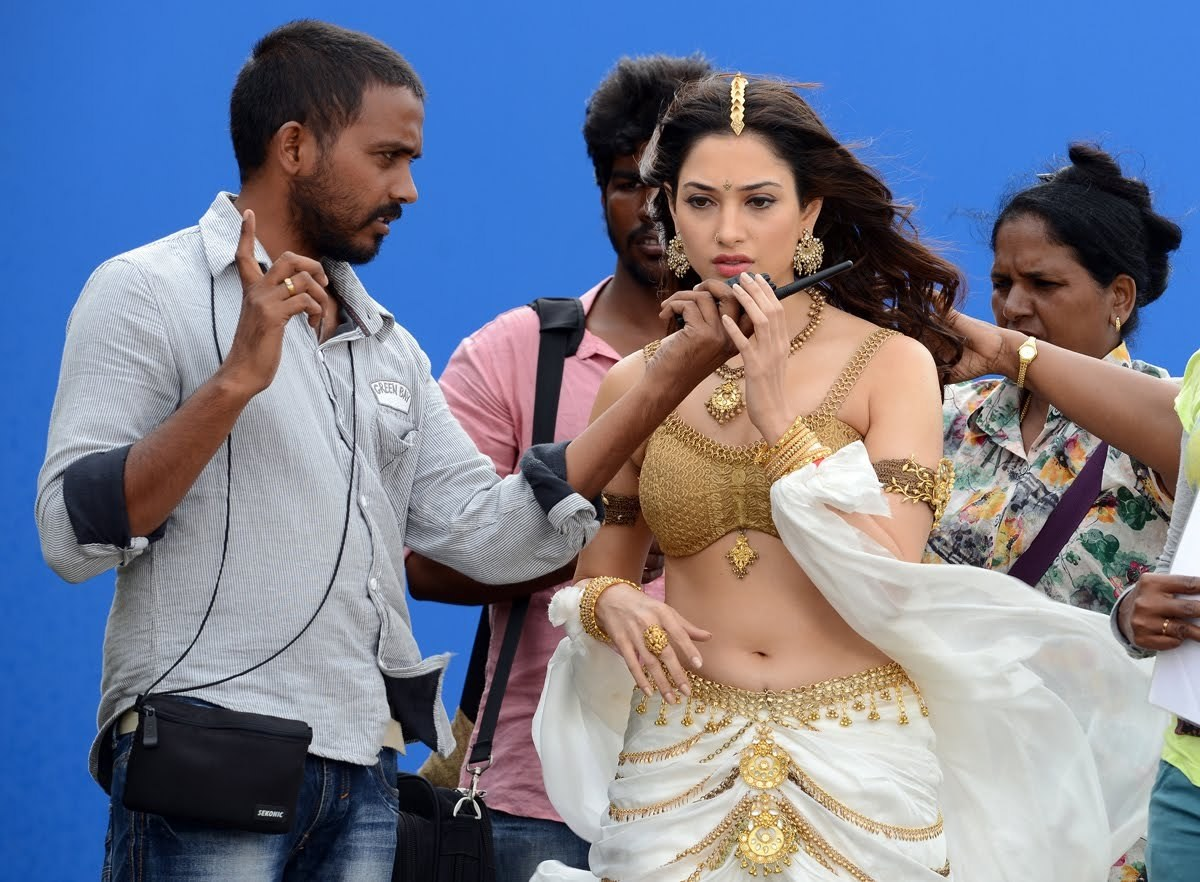 Tamannaah in Baahubali (2015) Behind the Scenes
