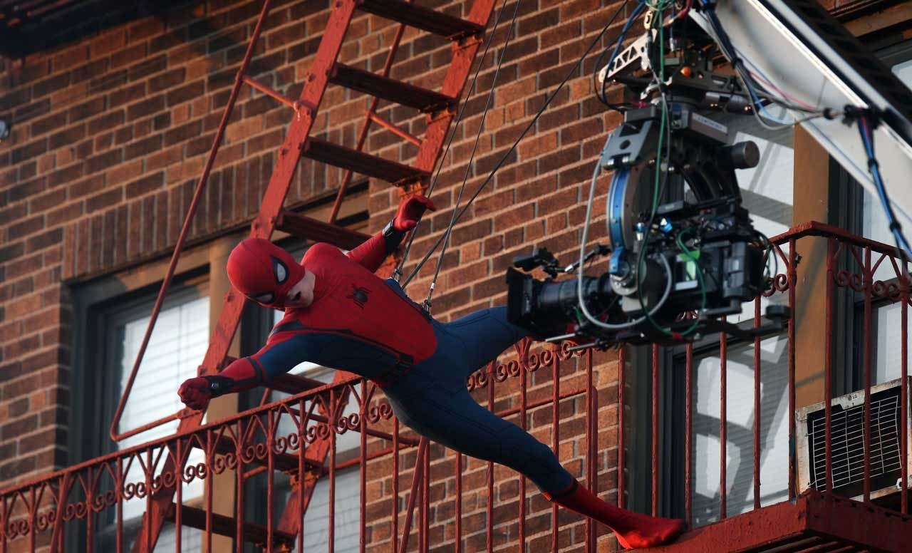 Tom Holland as Spider Man Behind the Scenes