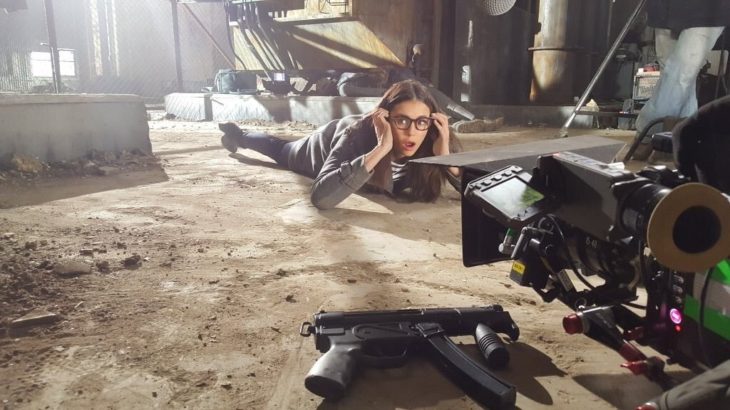 Nina Dobrev on the Set Behind the Scenes