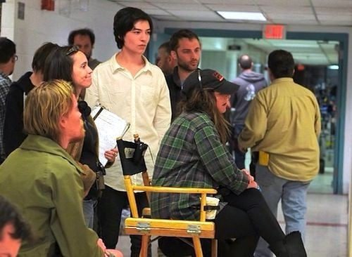 Ezra Miller as Kevin Behind the Scenes