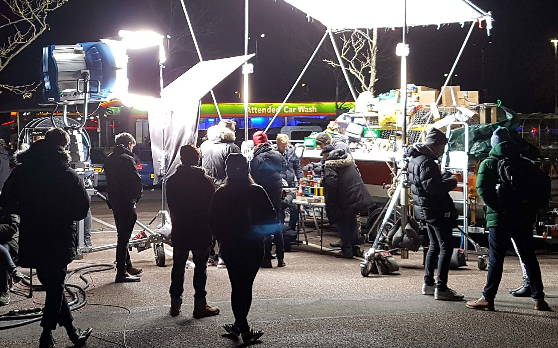 Busy Bees On The Set Behind the Scenes