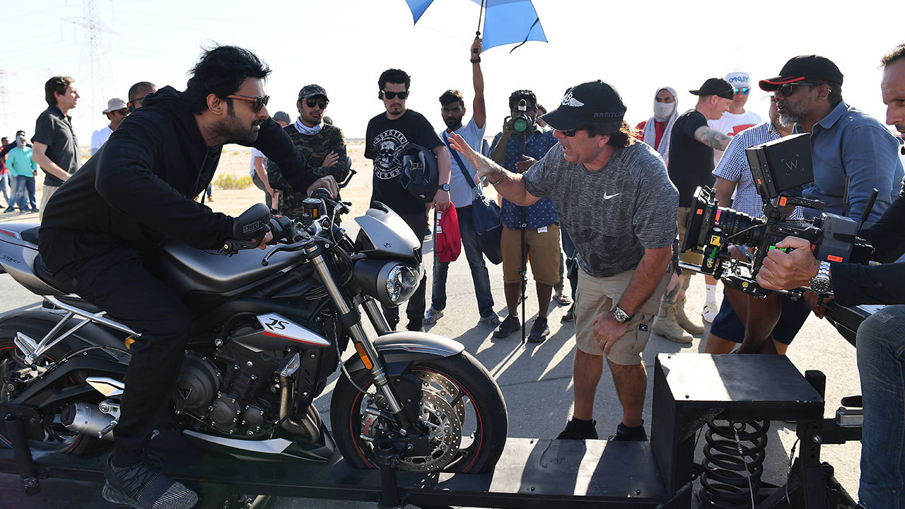 Prabhas In Action Behind the Scenes