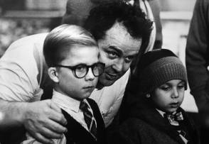 Bob Clark with Two Kids on the Set - Behind the Scenes photos