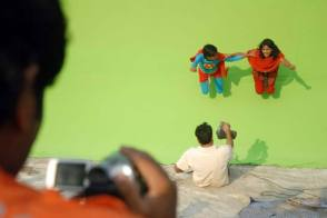 A Scene from Superman of Malegaon (2012) - Behind the Scenes photos