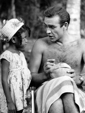 Sean Connery with a Little Fan - Behind the Scenes photos