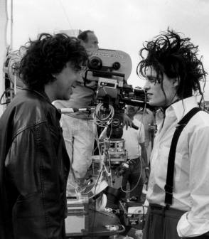 Tim & Johnny : Edward Scissorhands (1990) - Behind the Scenes photos