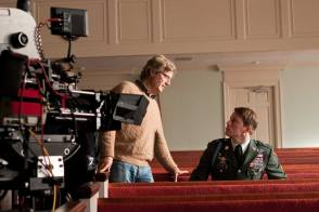 Discussing a Scene on the Set - Behind the Scenes photos