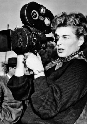 Ingrid Bergman with a Camera in Her Hands - Behind the Scenes photos