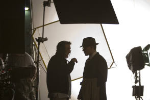 Discussion on the Set - Behind the Scenes photos