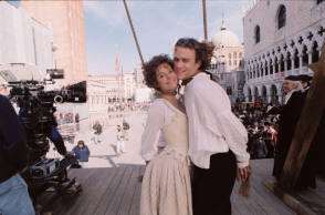 Heath Ledger and Sienna Miller - Behind the Scenes photos
