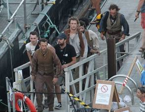 A Production Still : In the Heart of the Sea (2015) - Behind the Scenes photos