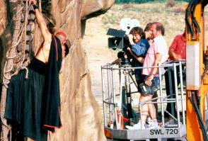 Filming Indiana Jones and the Temple of Doom (1984) - Behind the Scenes photos
