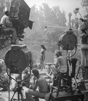 Filming Cobra Woman (1944) - Behind the Scenes photos