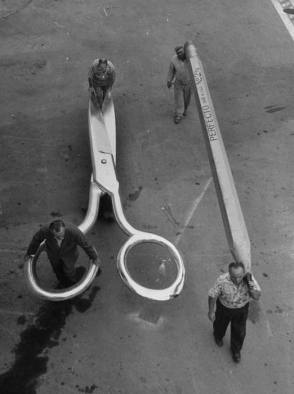 From the Film The Incredible Shrinking Man (1957) - Behind the Scenes photos