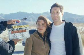 Scully and Mulder - Behind the Scenes photos