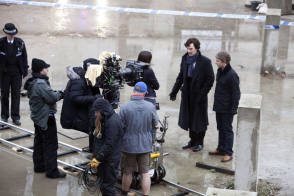 On Location : Sherlock (2010) - Behind the Scenes photos