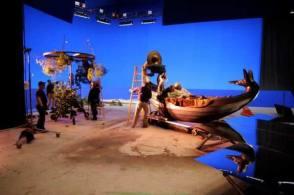 Filming The Imaginarium of Doctor Parnassus (2009) - Behind the Scenes photos