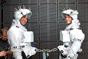 The Astronauts in Gravity (2013) - Behind the Scenes photos