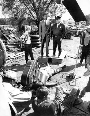 On Set of In the Heat of the Night (1967)