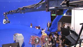 A Blue Screen Set - Behind the Scenes photos