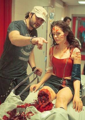 On Location : Planet Terror - Behind the Scenes photos