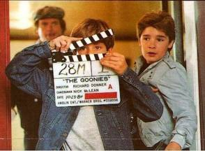 On Set of The Goonies (1985) - Behind the Scenes photos