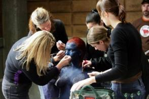 Mystique Makeup Process - Behind the Scenes photos