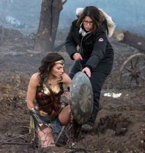 Wonder Woman on the Set