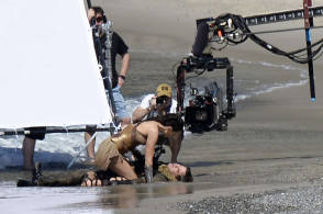 Gal Gadot in Wonder Woman - Behind the Scenes photos