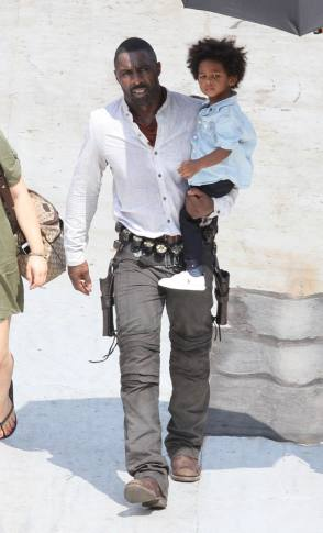 Idris Elba and His Son - Behind the Scenes photos