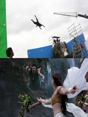 Prabhas and Tamannah - Behind the Scenes photos