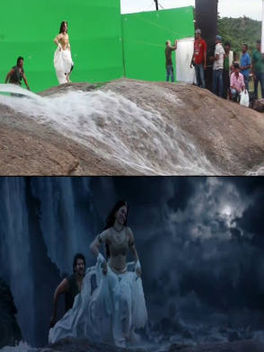 From the Film Baahubali (2015) - Behind the Scenes photos