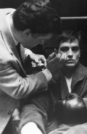 Alain Delon on Set