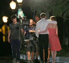 Filming La LA Land (2016) - Behind the Scenes photos