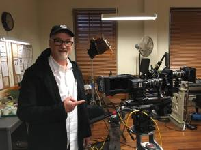 David Fincher on the Set