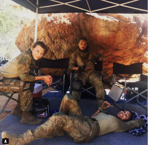 Relaxing On The Set
