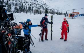 From the Film Downhill - Behind the Scenes photos