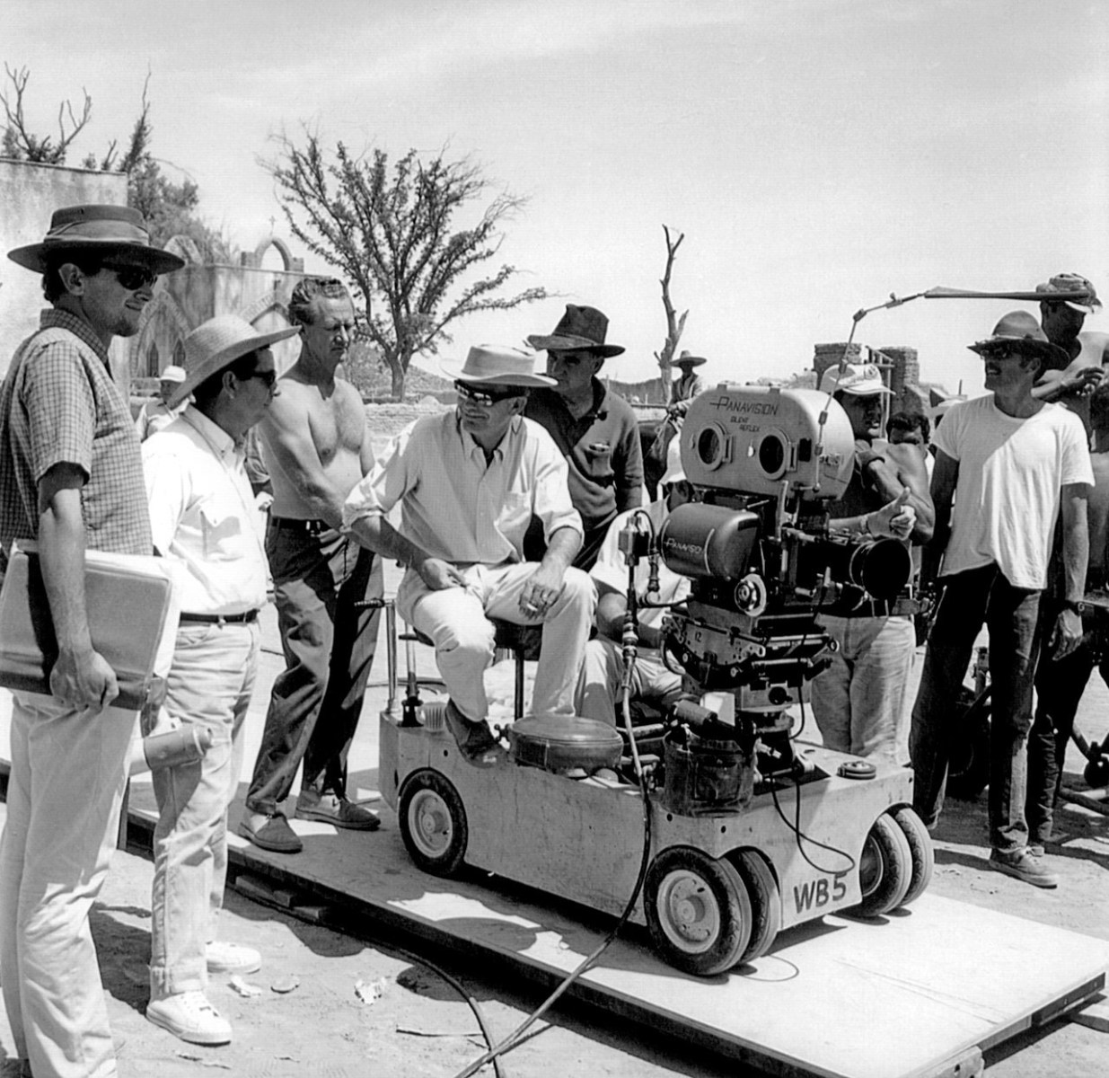 The Film Crew on the Set of The Wild Bunch (1969) Behind the Scenes