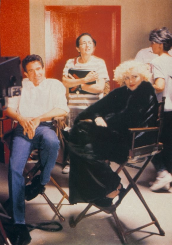 Beatty with Madonna Behind the Scenes