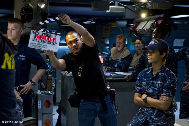 Rihanna in Battleship (2012) Behind the Scenes