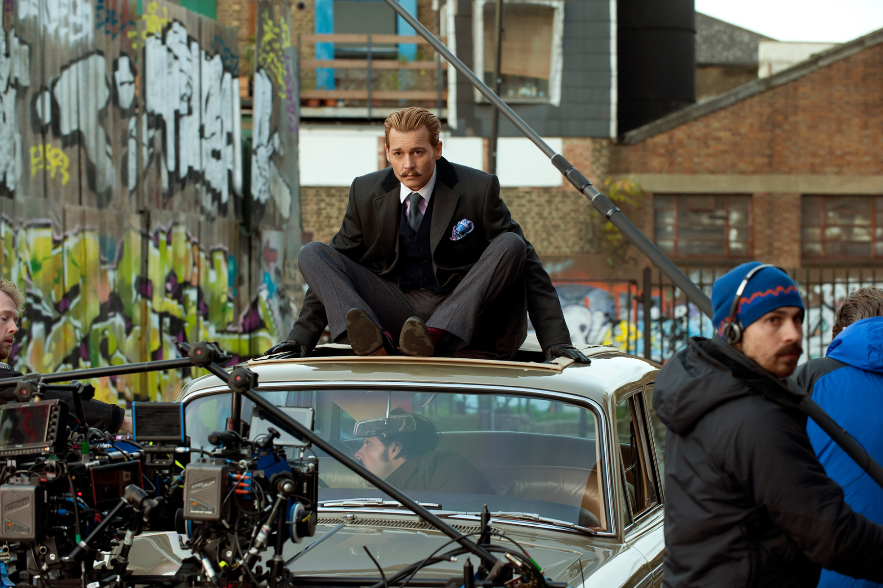 Filming Mortdecai (2015) Behind the Scenes