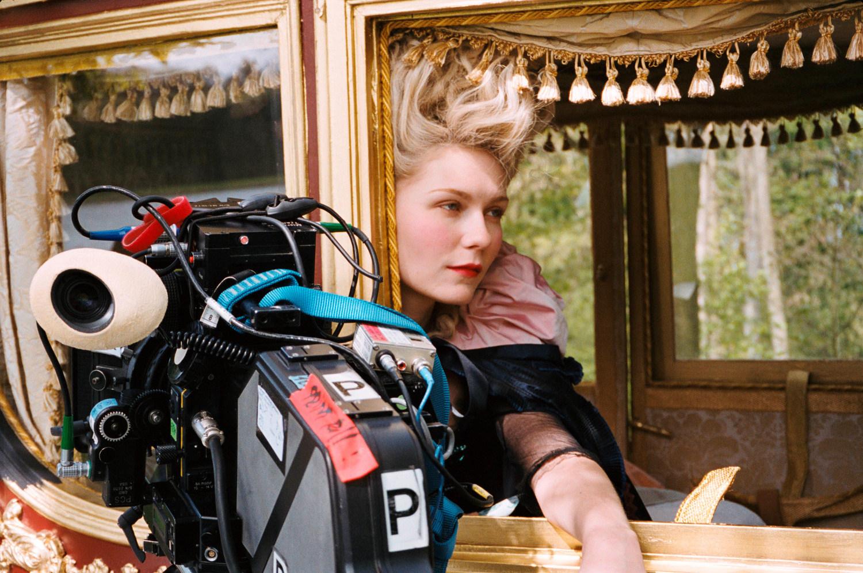 Kirsten as Marie Antoinette Behind the Scenes