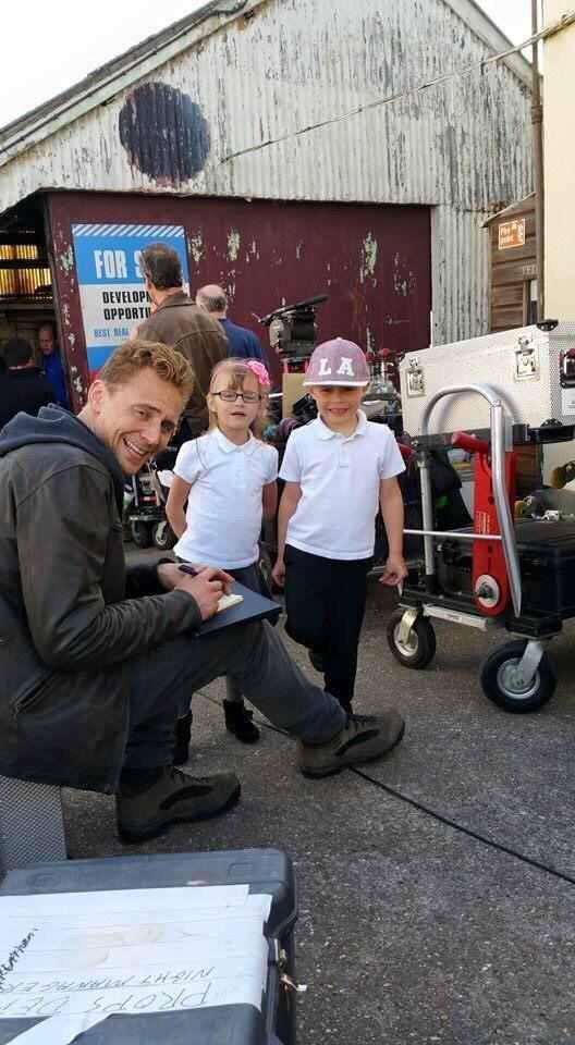 Little Fans on the Set Behind the Scenes