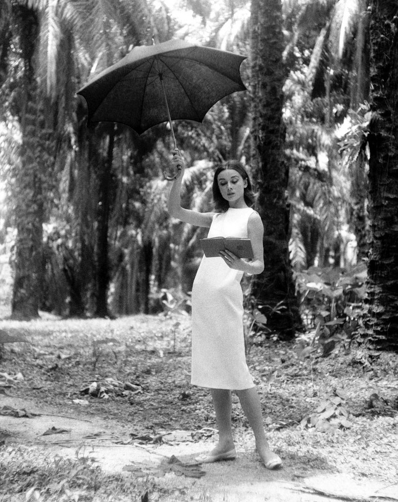 Audrey Hepburn on the Set Behind the Scenes