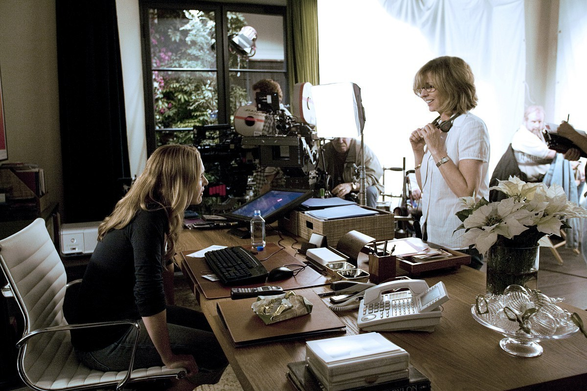 Kate and Nancy on the Set Behind the Scenes