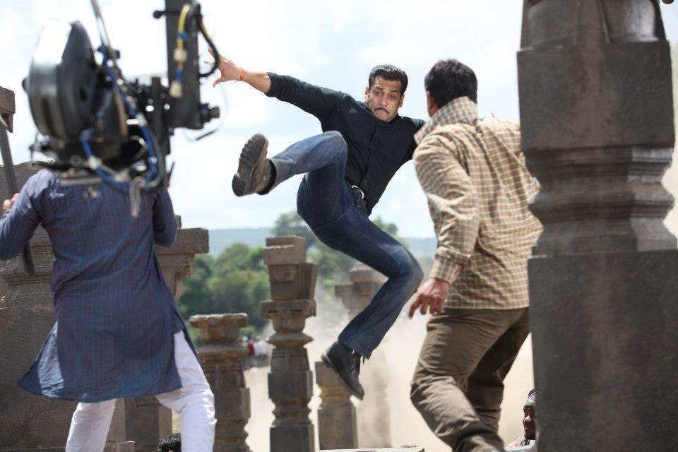 Salman Khan in Action Behind the Scenes