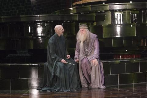 Lord Voldemort with Albus Dumbledore Behind the Scenes